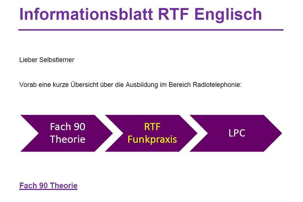 Informationsblatt RTF Englisch
